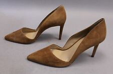 Ann Taylor Women's Azra Suede Pointed Toe Pumps SC4 Dark Camel Size US:11 UK:9