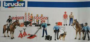 Bruder Bworld Spielzeugfiguren Bauarbeiter Männer Mann Autos Traktor Frau