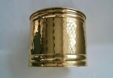 "Vintage SOLID BRASS Planter Pot 8"" - Hammered Lacquered Finish -Made in the USA"