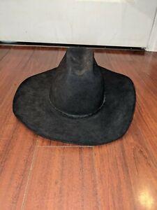 Vintage Black Resistol Self Conforming 4X Beaver Western Cowboy Hat Size 7 1/4