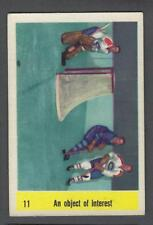 1958-59 Parkhurst Hockey Card #11 Jacques Plante/George Armstrong