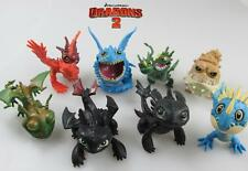 8Pcs How To Train Your Dragon Drachenzähmen leicht gemacht Figuren Spielfiguren