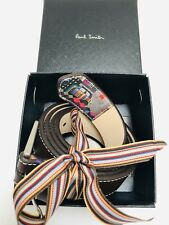 Paul Smith Men Belt 100% Leather Mini 38' With Box Chocolate