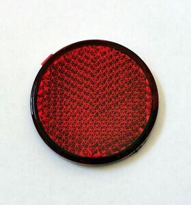 universal Mini Reflektor Katzenauge Rückstrahler rot Motorrad KFZ rund 43mm 3M