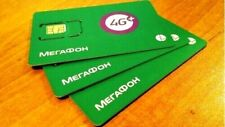 NEW! Preactivated MEGAFON Russian Prepaid SIM card 4G Internet Russia