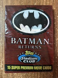 Vintage Topps Stadium Club Batman Returns Wax Pack 15 Cards Per Pack NOS