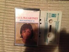 PAUL MCCARTNEY BEATLES SPANISH CASSETTE TAPE SPAIN MCCARTNEY II - EMI 80