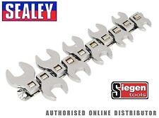 """Siegen-S0866 Pie de Gallo Extremo Abierto Llave conjunto 10 piezas de 3/8"""" unidad métrica herramientas"""