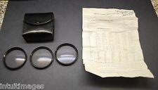 Vintage HOYA Glass 55mm Close Up Lens Kit #1, #2, & #3,  w/ Pouch, Japan.