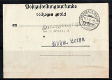 GERMANY 1942 WWII NAZI TRACKING FORM OF REGISTERED CERTIFIED MAIL