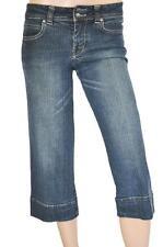 COLORADO HUDSON SZ 8 WOMENS Blue Wide Leg Capri 3/4 Cropped Stretch Denim Jeans