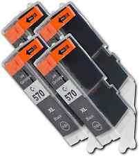 PGI570 Negro 4 Cartuchos de tinta para Canon Pixma MG6850 MG6851 MG6852 MG6853