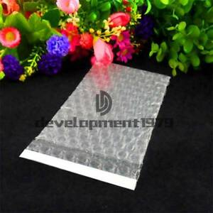 """6"""" x 8""""_150 x 200+25mm 100 Clear Self Seal Bubble Bags Plastic Packing Pouches"""