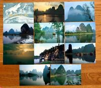 China Landscapes of Guilin Stamped Postcards Set of 10 Beautiful