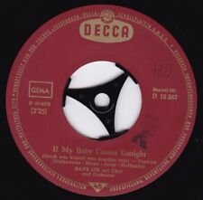 DAVE LEE / If My Baby Comes Tonight / Es kitzelt / Single 1962
