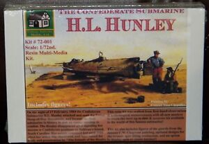 Cottage Industry Civil War Confederate Submarine H. L. Hunley model kit 1/72
