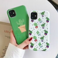 Cactus Plant Case For iPhone 11 Pro Max XR XS X 6 6S 7 8 Plus Cute Cover Fashion