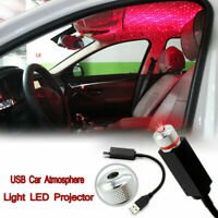 USB LED Car Atmosphere Lamp Interior Ceiling Ambient Star Red Light Projector