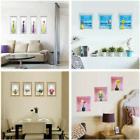 Creative 3D Flower Vase Wall Sticker Decal Art Living Room Home Decor Removable