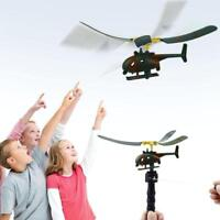 Funny Outdoor Helicopter Pull String Handle Educational Toy Gift For Children FH