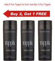 Toppik Hair Building Fibers 27.5 gram BLACK, DARK BROWN, MEDIUM & LIGHT BROWN..