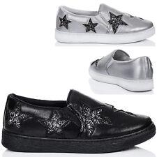 Plataforma Para Mujer Mocasín Zapatos Planos estrella de brillo