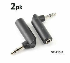 2-PACK Right-Angle 3.5mm Stereo Male to Female Audio Adapter - GC-215-2