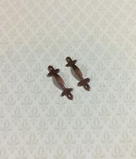 Dollhouse Miniatures 1:12 Scale Door Pulls Pewter 2//Pk #CLA05521