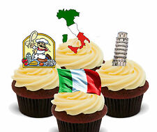 Italy Fun Pack, Edible Stand-up Cup Cake Toppers, Eurovision Italian Flag Fairy