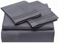 100% Egyptian Cotton Sheets Set, 400 Thread Count Long Staple Sateen Weave 4 pcs