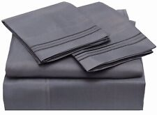 100% Egyptian Cotton Sheets Set, 400 Thread Count Long Staple Sateen Weave 4 pcs