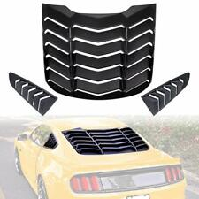 Fit For Ford Mustang 2015-2018 Rear & Side Window Scoop Louvers Sun Shade Cover