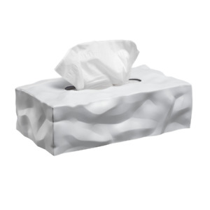 NEW Wipy 2 Rectangle Tissue Box Cover   White