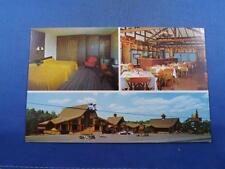 MOTEL RESTAURANT POSTCARD LES PINS GRANBY QUEBEC CANADA GOLD COURSE NEARBY