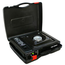 Gourmet Chef Portable Single Butane Gas Stove Camping Patio Tabletop with Case