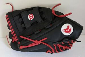 """WILSON A700 BOSTON RED SOX LEATHER BASEBALL GLOVE 13"""" LHT"""