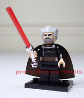 Count Dooku Star Wars Minifigure +Stand Sith The Clone Wars Mandalorian FREESHIP