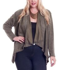 Plus Size 20 Open Cardigan Moss Green With Sidetail Ladies Womens New B-463