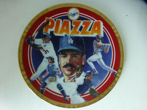 1994 Mike Piazza Sports Impression plate 8.5 inch  Los Angeles Dodgers Baseball