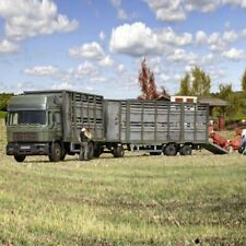 Camion Man bétaillère avec remorque et bovins à monter -HO-1/87-KIBRI 12248