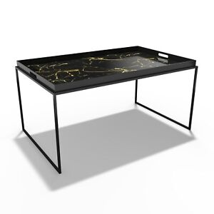 Medium Black Tray Table - Coffee Table - Lux