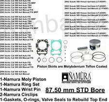 Namura Size B Piston /& Gasket Kit Suzuki Quadrunner 500 4x4 Standard Bore 87.5mm