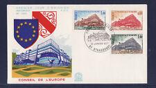 enveloppe 1er jour   conseil de l' Europe    Strasbourg   1977