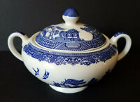 Johnson Brothers 'Willow Blue' Sugar Bowl w Lid Made in England