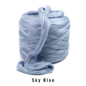 10kg Bale Sky Blue Mammoth® Giant Super Chunky Extreme Arm Knitting Unspun Yarn