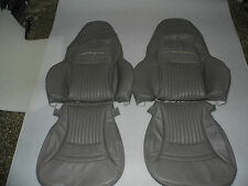 1997-2004 C5 Corvette Synthetic Leather Peforated Grey Covers for Sport Seats