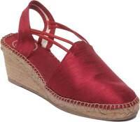 Toni Pons Turia Women Fabric Closed Toe Wedge Espadrilles In Red Size UK 3 - 8