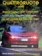 Quattroruote 443 1992 Renault Twingo l'anti 500. Confronto Toledo e Tempra Q.41]