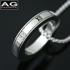 """Fashion ring round XII cubic pendant 18"""" chain necklace US SELLER"""