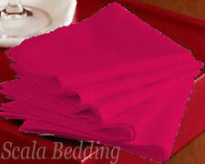 New Set of 12pc Solid Cloth Linen Napkin 100% Egyptian Cotton Choos Size & Color